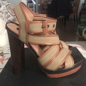 Ann Taylor Canvas Platform Sandals